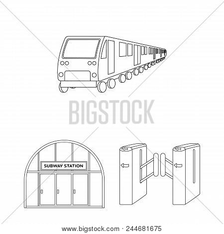 Metro, Subway Outline Icons In Set Collection For Design.urban Transport Vector Symbol Stock  Illust
