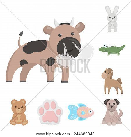 An Unrealistic Animal Cartoon Icons In Set Collection For Design. Toy Animals Vector Symbol Stock  I