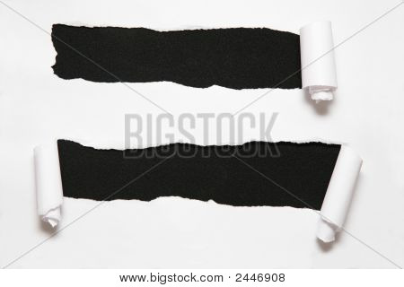 The Sheet Of Paper With Two Holes