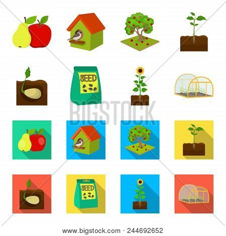 Company, Ecology, And Other  Icon In Cartoon, Flat Style. Husks, Fines, Garden Icons In Set Collecti