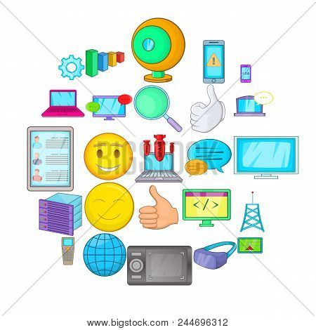 Secret Information Icons Set. Cartoon Set Of 25 Secret Information Vector Icons For Web Isolated On