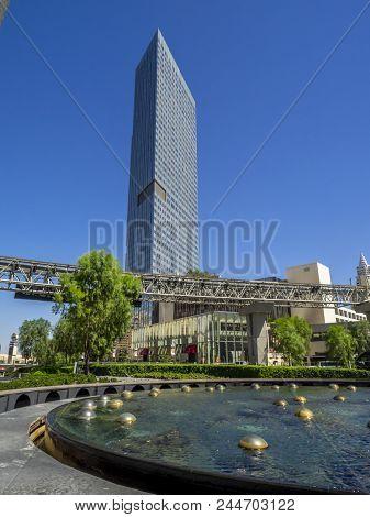Las Vegas, Nevada / USA - June 9, 2018: The Mandarin Oriental Resort and Casino in Las Vegas. The Ma