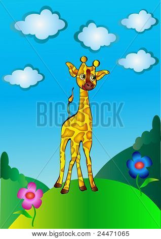 Nice Young Giraffe Cost On Hillock