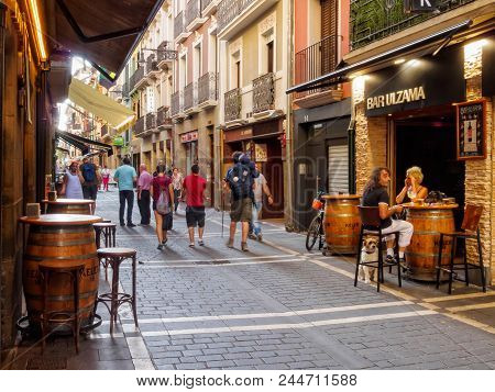 There Are Countless Pubs, Bars, Taverns And Restaurants In St Nicholas Street (calle San Nicolas) -