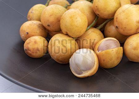 Burmese Grape - Mafai In Thai, Sweet And Sour Fruit (scientific Name Is Baccaurea Ramiflora Lour)