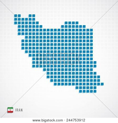 Iran Map And Flag Icon