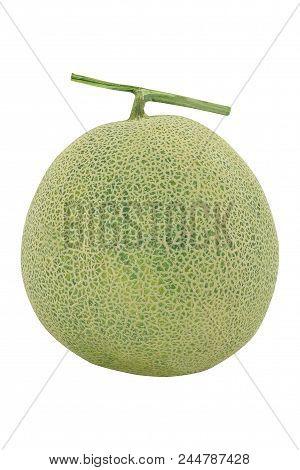 Fresh Melon, Muskmelon, Mushmelon, Rockmelon Or Cantaloupe On White Background