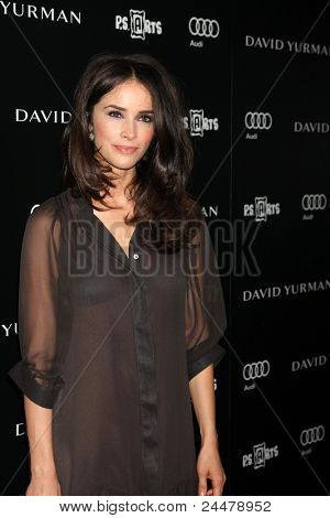 LOS ANGELES - OCT 18:  Abigail Spencer arriving at the PS Arts 20th Anniversary Event at the Sunset Tower Hotel on October 18, 2011 in West Hollywood, CA