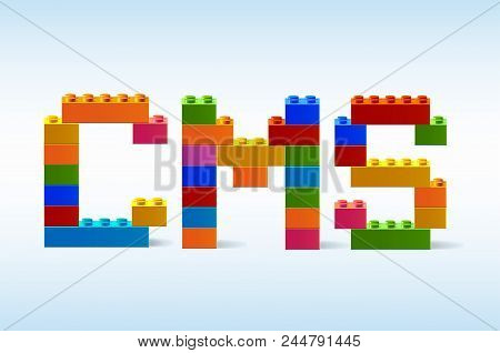 The Inscription Cms From The Blocks Of The Constructor. A Word From The Constructor. Multicolored Wo