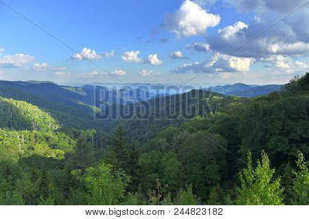 View of the smoky Mountains near Gatlinburg Tennessee