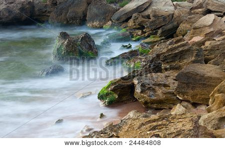 Rocky Sea Coast Background