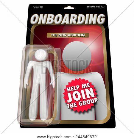 Onboarding New Employee Team Member Action Figure 3d Render Illustration