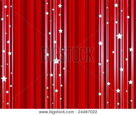 stars red background