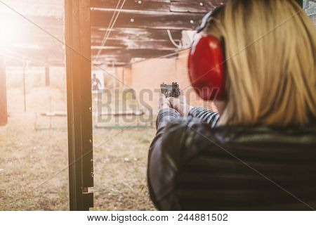 Shooting With Gun