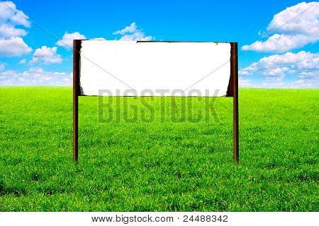 Signpost In The Field