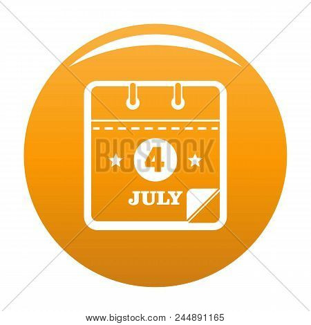 Calendar Eleventh November Icon. Simple Illustration Of Calendar Fourth July Vector Icon For Any Des