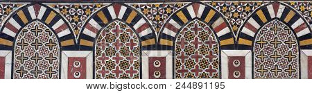 Mamluk Era Marble Mosaic Panel With Geometric Decorations, Al Ashraf Barsbay Mosque, City Of The Dea