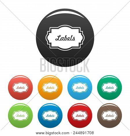 Nice Label Icon. Simple Illustration Of Nice Label Vector Icons Set Color Isolated On White