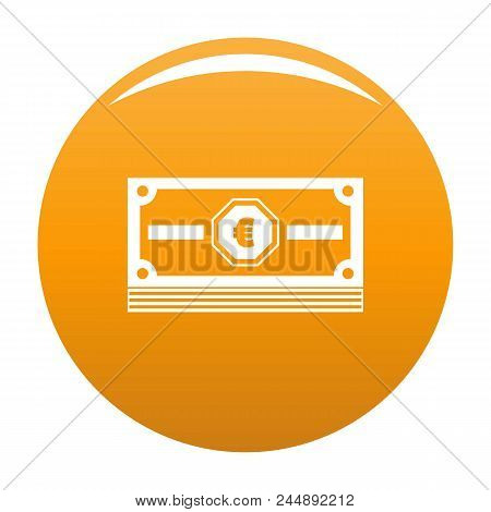 Cash Money Icon. Simple Illustration Of Cash Money Vector Icon For Any Design Orange