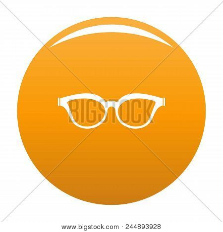 Myopic Spectacles Icon. Simple Illustration Of Myopic Spectacles Vector Icon For Any Design Orange