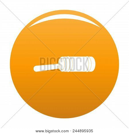 Justice Gavel Icon. Simple Illustration Of Justice Gavel Vector Icon For Any Design Orange