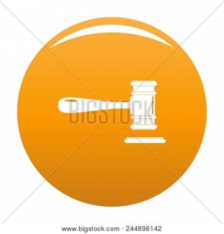 Court Icon. Simple Illustration Of Court Vector Icon For Any Design Orange