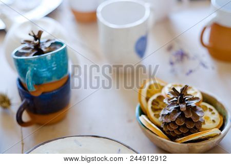 Natural Herbal Eco Rustic Decor. Handmade Craft Crockery. Art Craft Inspiration.