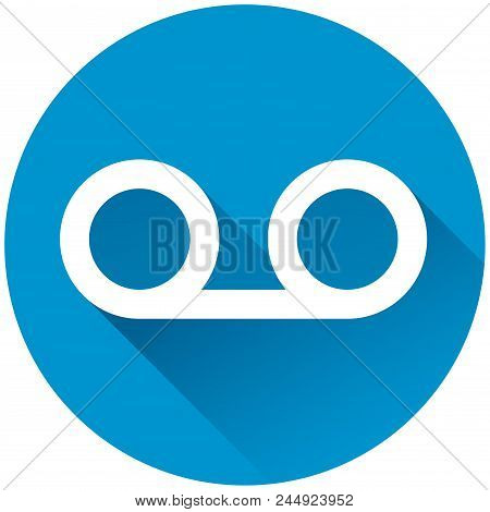 Illustration Of Voice Mail Circle Blue Icon