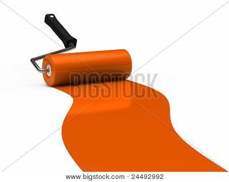 3D Paint Roller Orange