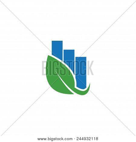 Rising Bar Logo Icon Design Element Template Vector