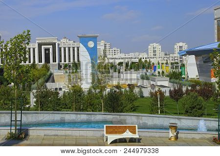 Ashgabat, Turkmenistan -  September 26.2017:  Part Of The Sport Complex, Which Hosted 5 Asian Games.