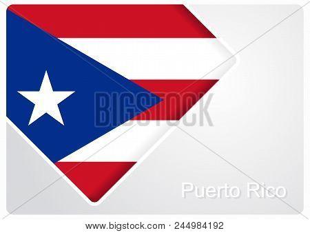 Puerto Rican Flag Design Background Layout. Vector Illustration.