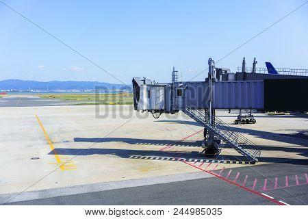 Jet Bridge Or  Jetway Bridge In International Airport