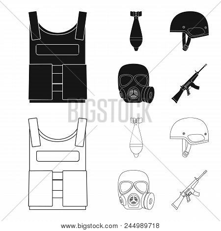 Oil Refinery, Tank, Tanker, Tower. Oil Set Collection Icons In Black, Outline Style Vector Symbol St