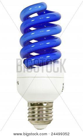 Bulbo ahorro de energía azul