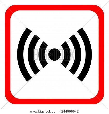 Wifi Red Isolated On White Background. Vector Illustration.white Modern Web Vector Design And Smartp