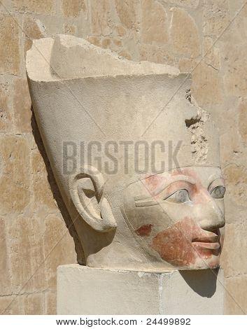 Ancient Head Of Hatschepsut