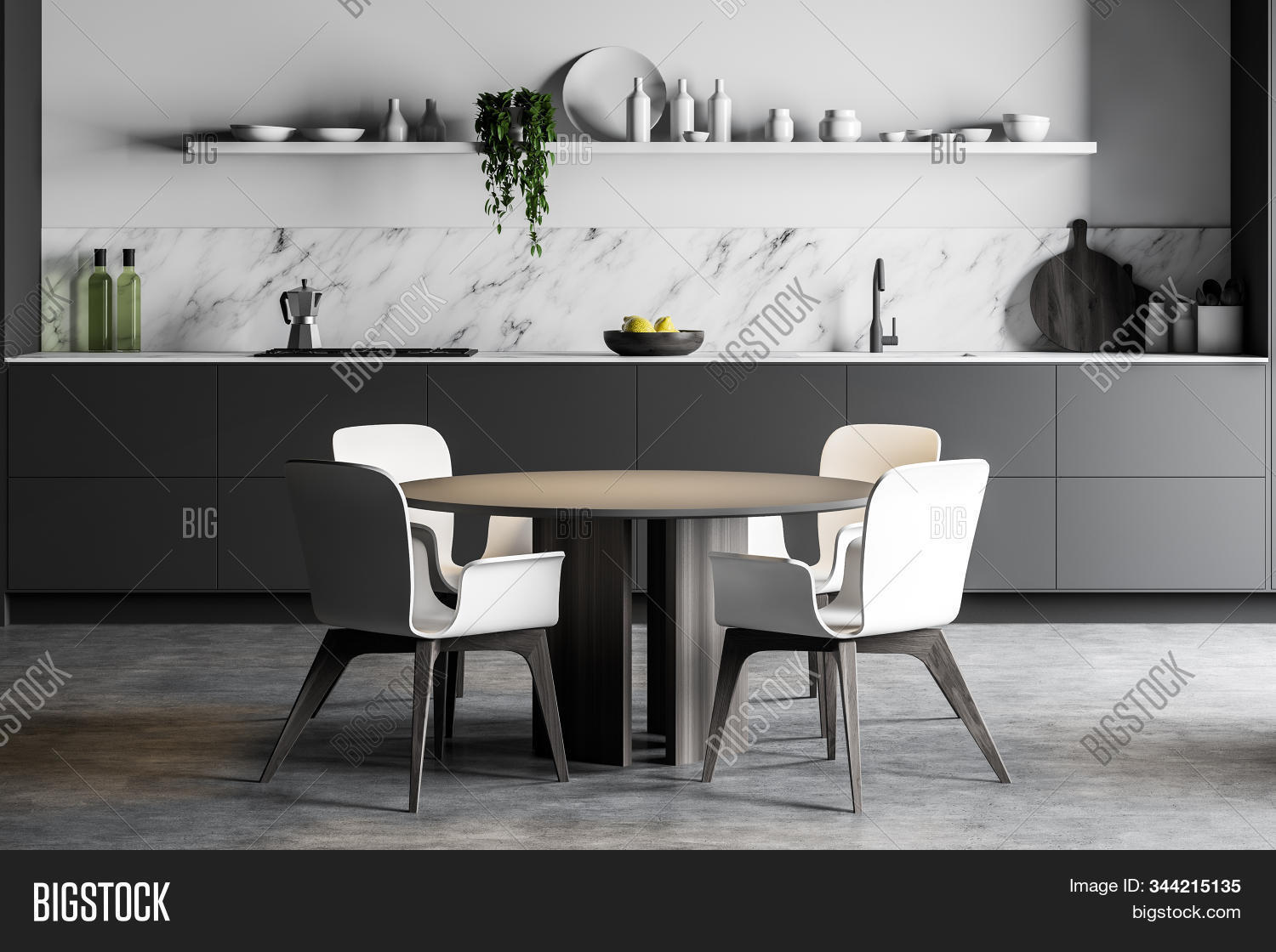 Round Dining Table Image Photo Free Trial Bigstock