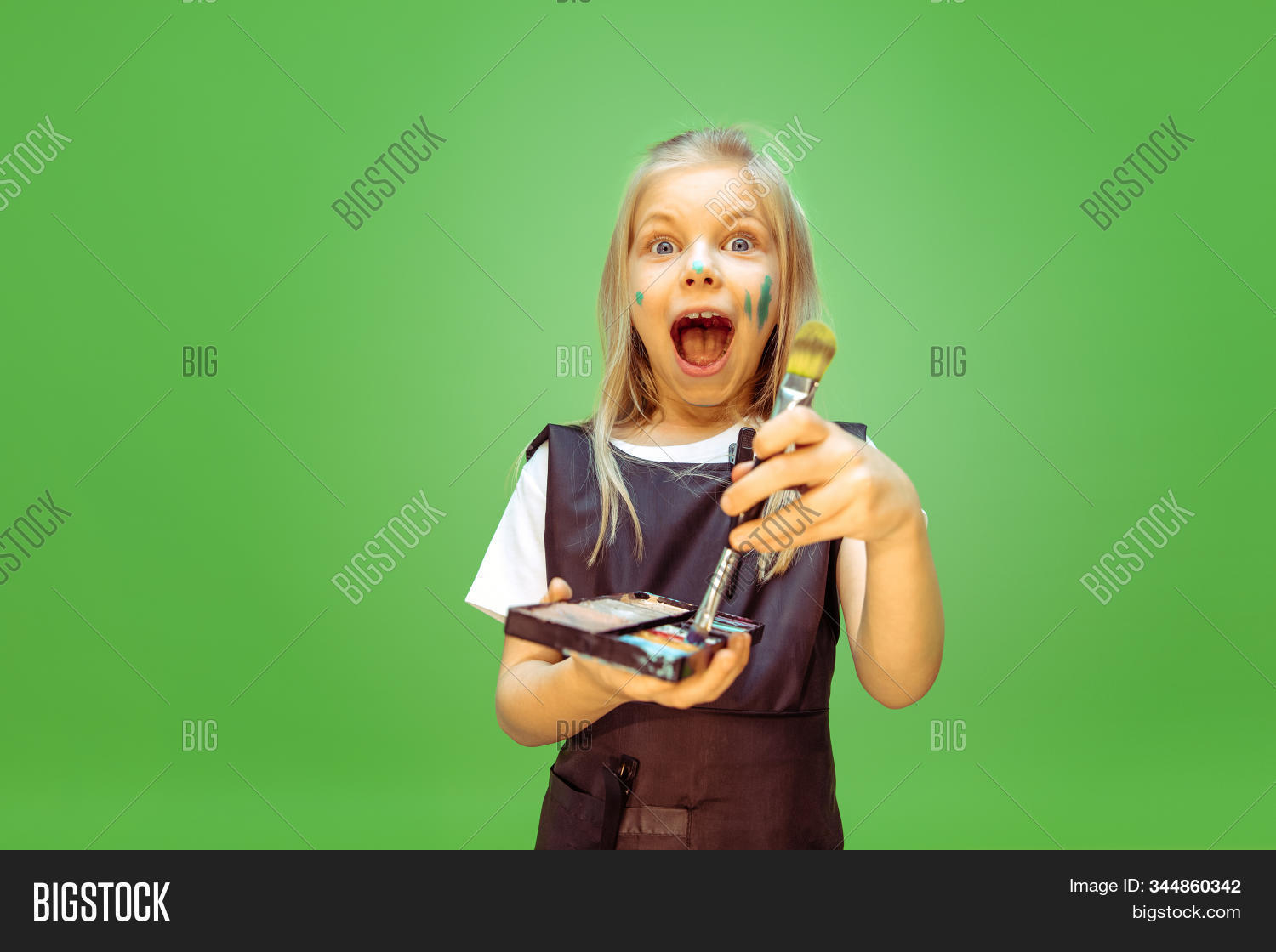 Trying Little Girl Image Photo Free