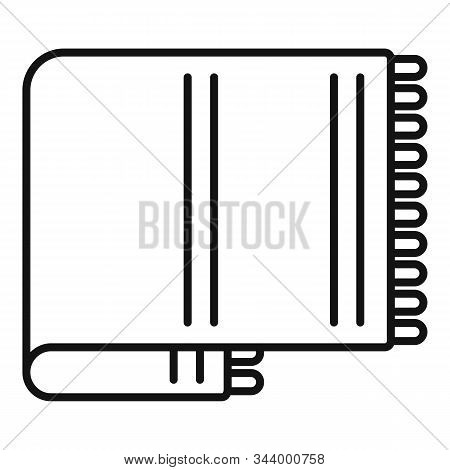 Wool Blanket Icon. Outline Wool Blanket Vector Icon For Web Design Isolated On White Background