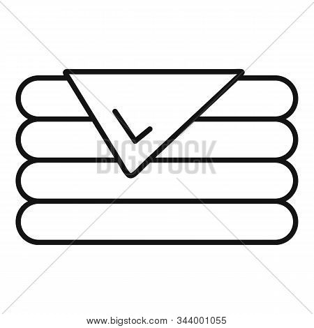 Stack Blanket Icon. Outline Stack Blanket Vector Icon For Web Design Isolated On White Background