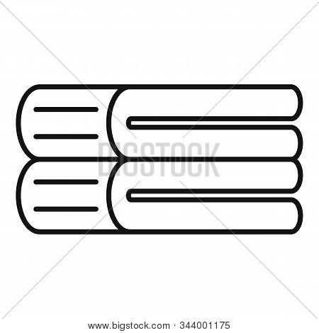 Linen Blanket Icon. Outline Linen Blanket Vector Icon For Web Design Isolated On White Background