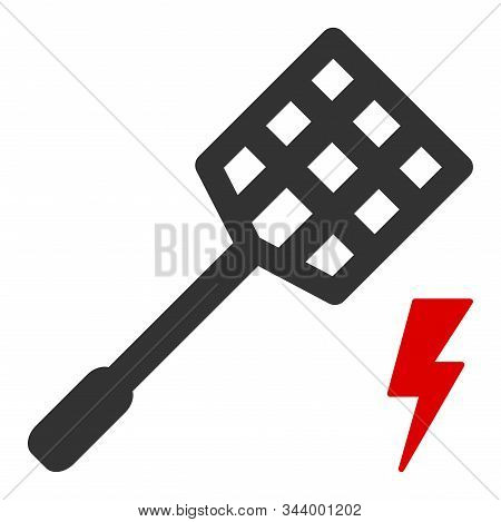 Electric Fly Killer Vector Icon. Flat Electric Fly Killer Symbol Is Isolated On A White Background.
