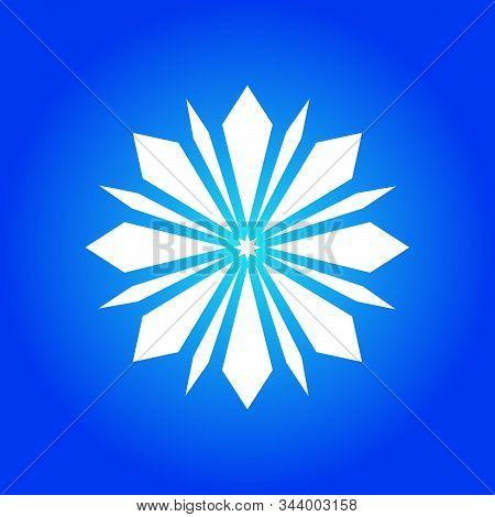Snow Element. Snow White Color. Blue Background. Snow Vector Collection. Snow Hand Cover For The Des