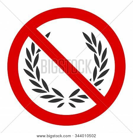 No Glory Vector Icon. Flat No Glory Pictogram Is Isolated On A White Background.