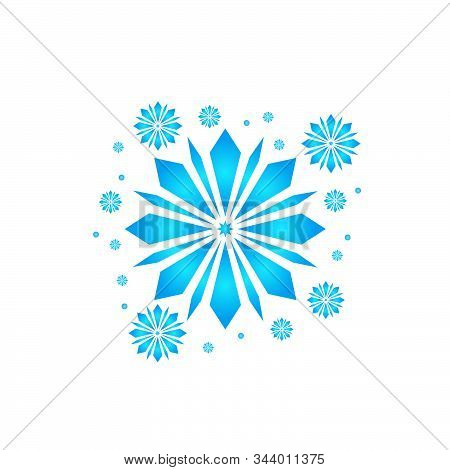 Snow Element. Blue Snow With A White Background. Snow Vector Collection. Snow Hand Cover For The Des