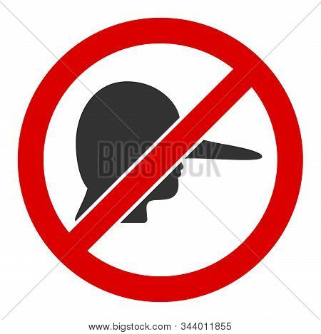 No Lier Vector Icon. Flat No Lier Pictogram Is Isolated On A White Background.