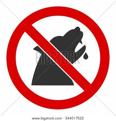 No Werewolf Vector Icon. Flat No Werewolf Pictogram Is Isolated On A White Background.