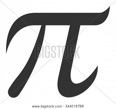 Pi Symbol Vector Icon. Flat Pi Symbol Pictogram Is Isolated On A White Background.