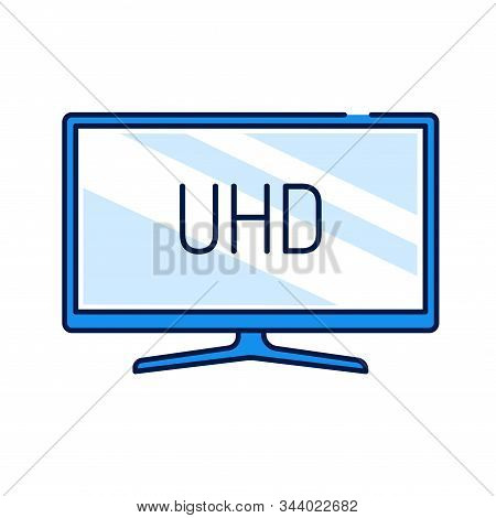 Uhd Tv Display Color Line Icon. Ultra High-definition Television, Uhdtv. Resolution 1920x1080. Picto